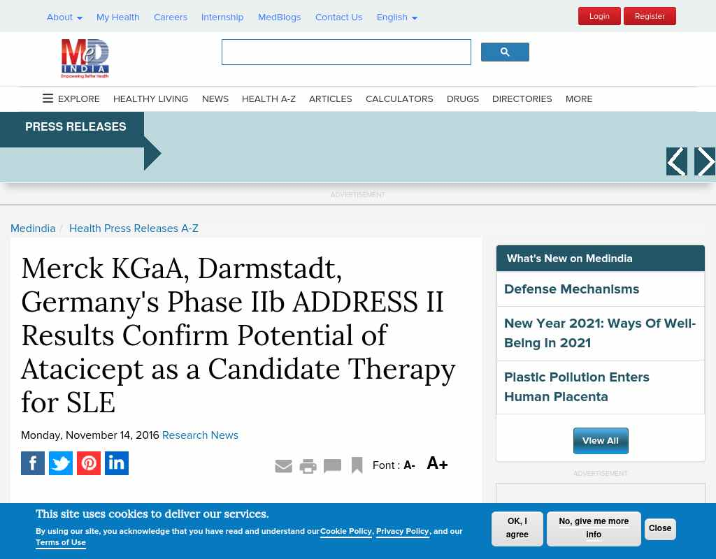 Merck KGaA, Darmstadt, Germany's Phase IIb ADDRESS II Results
