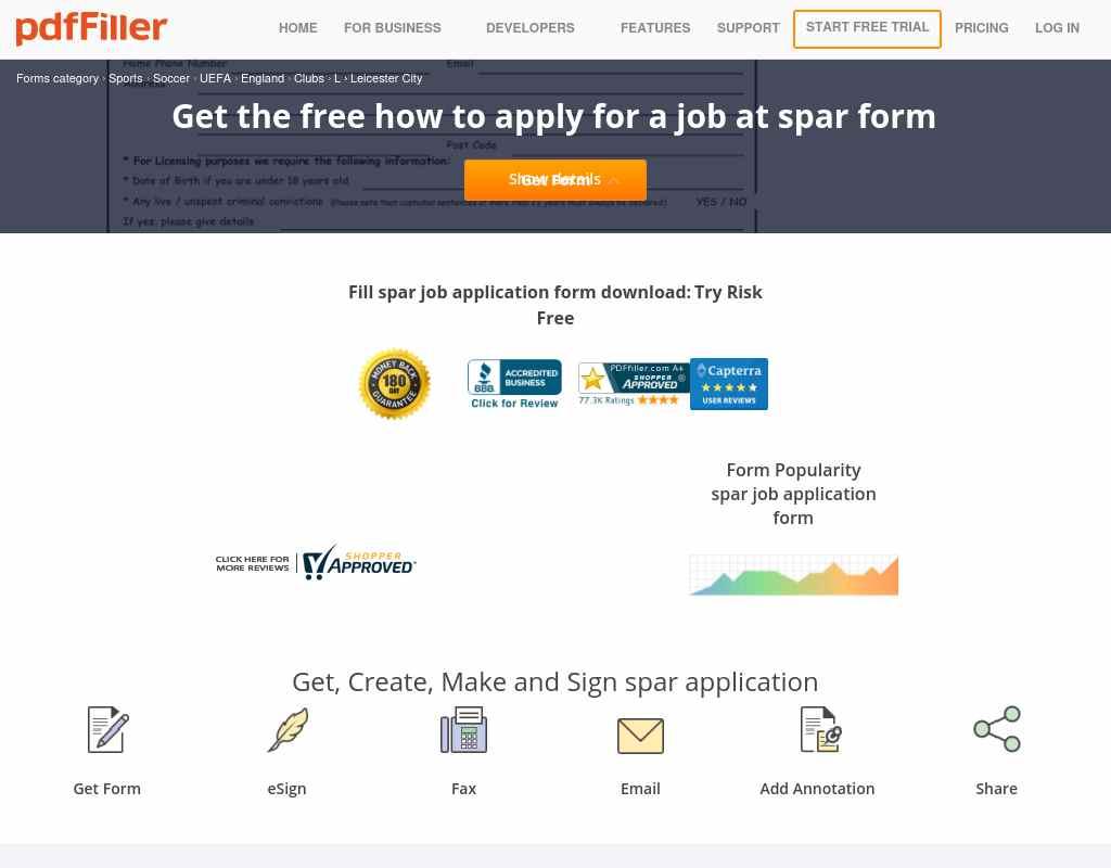 Fillable spar jobs application form - Alumni.NET