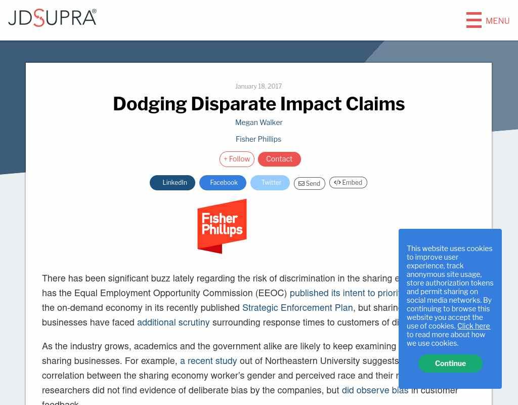 Dodging Disparate Impact Claims Alumni