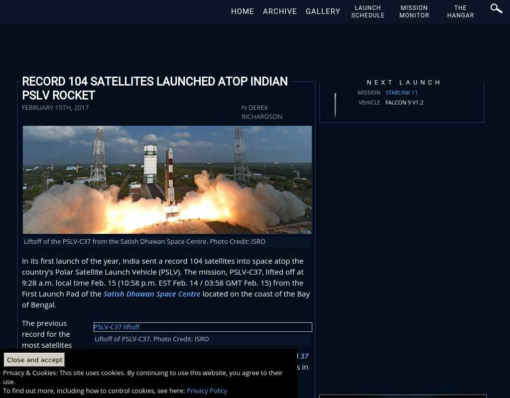 Record 104 satellites launched atop Indian PSLV rocket
