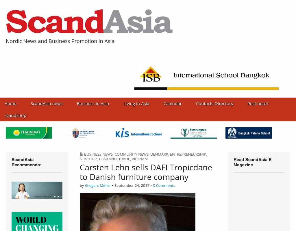 Carsten Lehn sells DAFI Tropicdane to Danish furniture