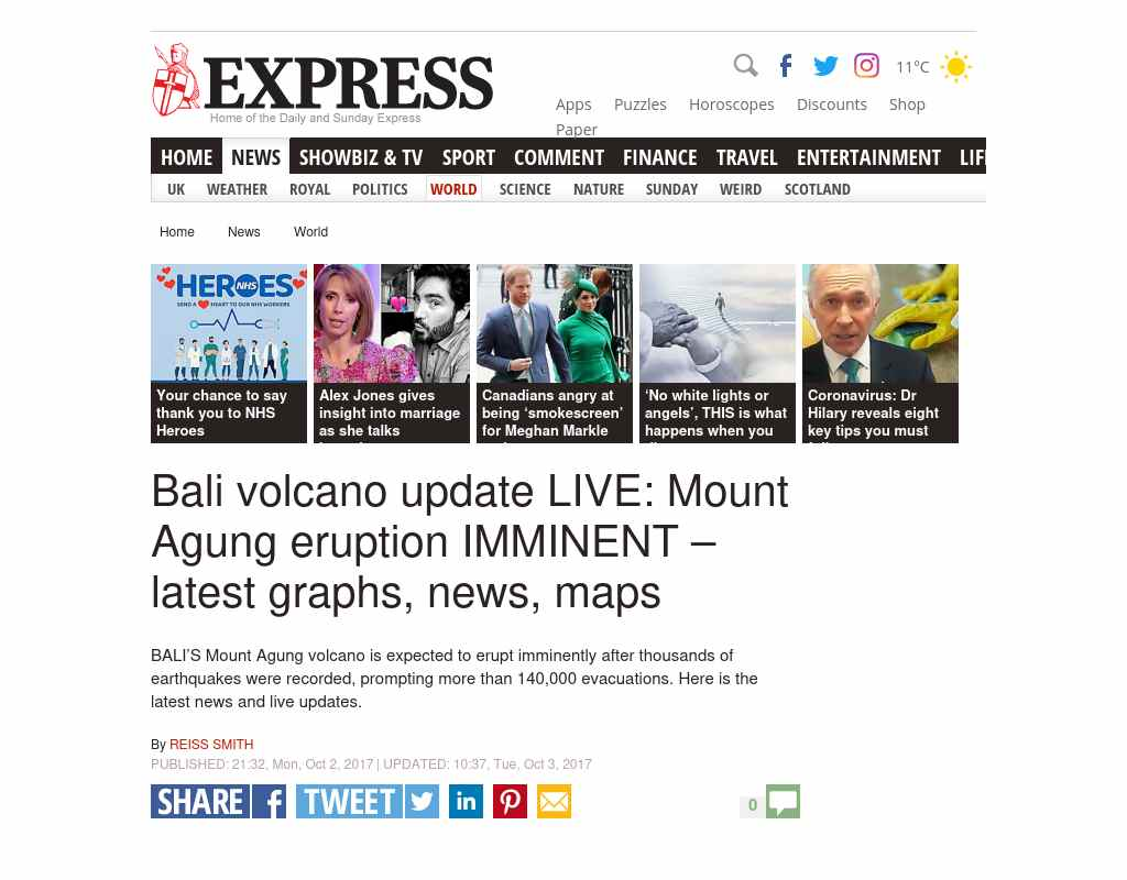 Bali Volcano Update Live Mount Agung Eruption Imminent Latest