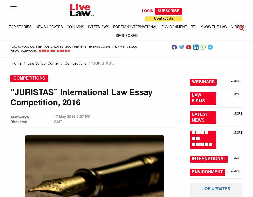 juristas international law essay competition alumni net the participants must submit an attested copy of students identity card along the essay co authorship is allowed but