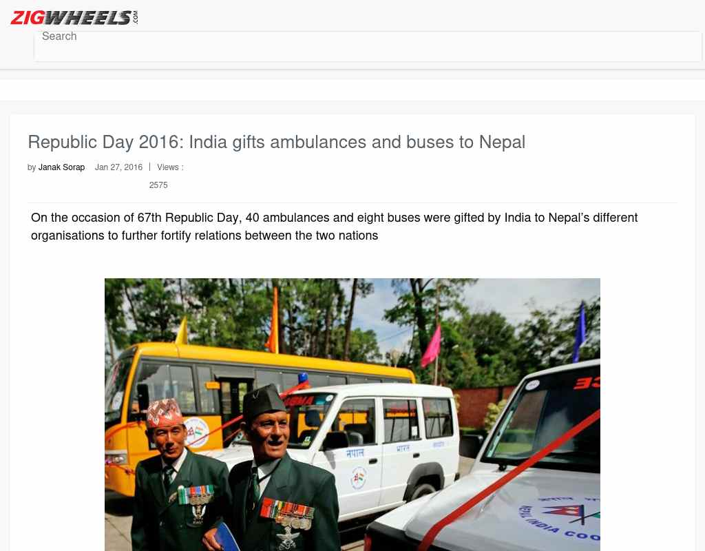 Republic Day 2016: India gifts ambulances and buses to Nepal
