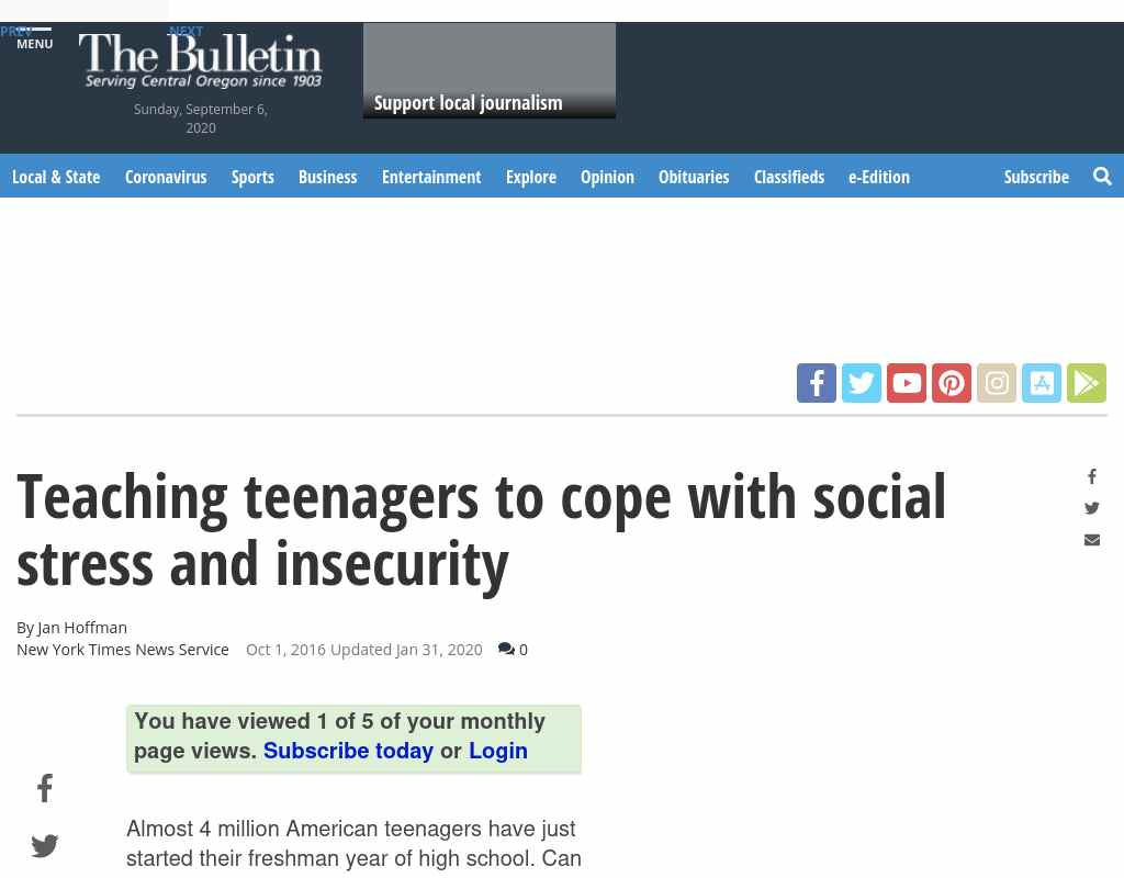 Teaching Teenagers To Cope With Social >> Teaching Teenagers To Cope With Social Stress And Insecurity