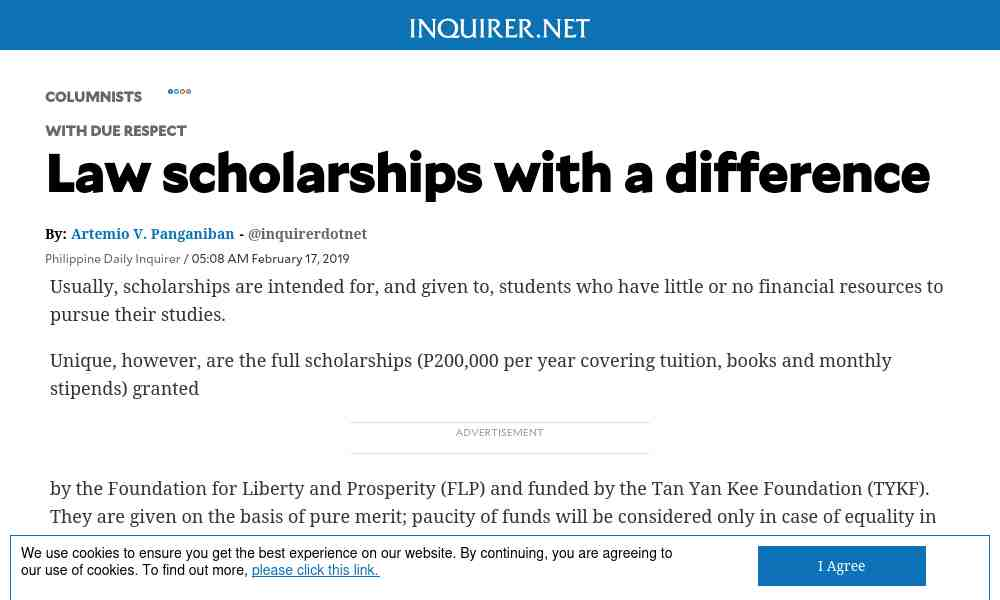 Law scholarships with a difference - Alumni NET