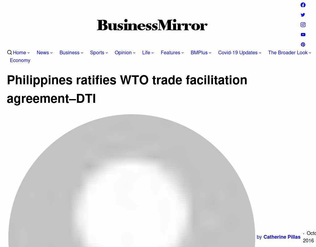 Philippines Ratifies Wto Trade Facilitation Agreement Dti Alumni